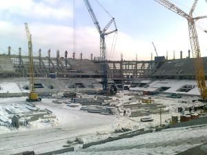 Нарушения при строительстве стадиона «Динамо» устраняются своевременно