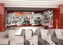 Мозаичное панно, созданное для новой станции петербургского метрополитена, продают на Avito