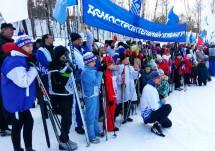 Московские строители вышли на лыжню